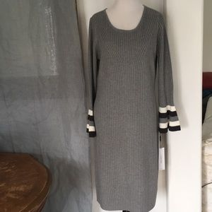 New! Calvin Klein ribbed sweater dress